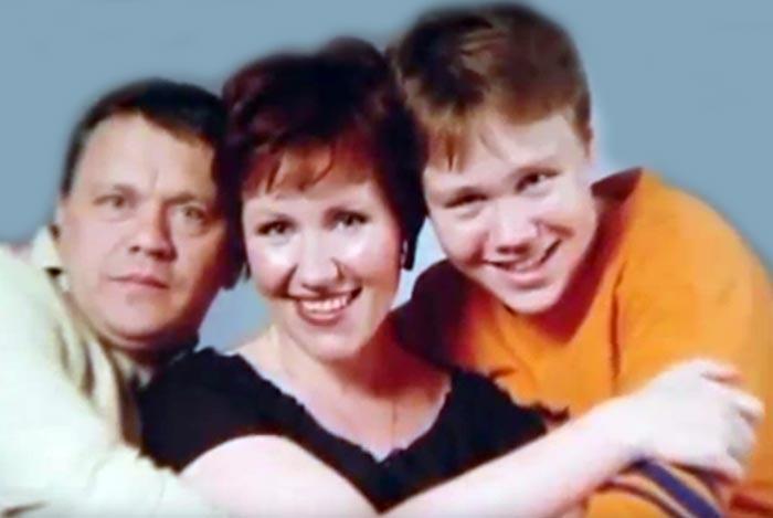 Ирина Бякова и Сергей Габриэлян с сыном
