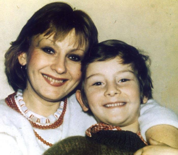 Ирина Маликова и сын Василий