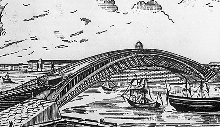 Одноарочный мост Ивана Кулибина
