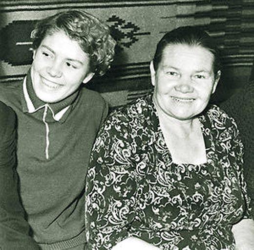 Лариса Латынина с мамой