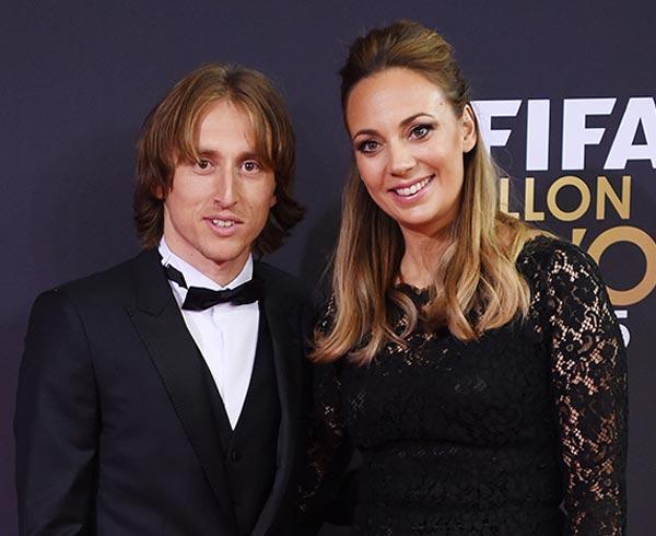 Лука Модрич и жена Ваня 2