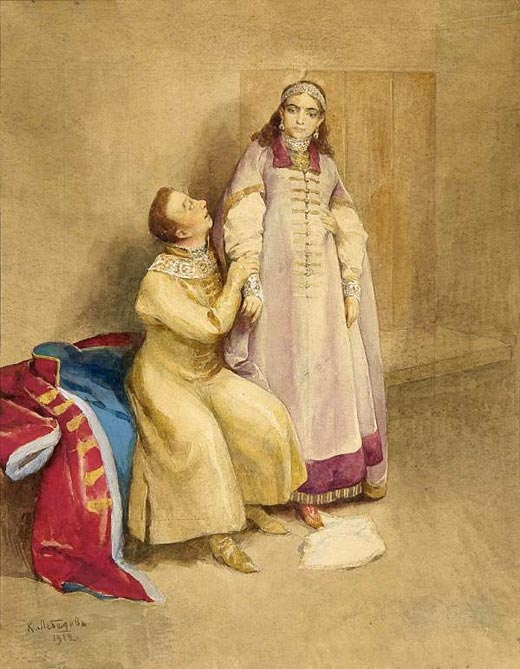 Лжедмитрий I и Ксения Годунова