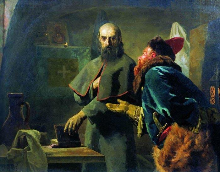Малюта Скуратов и Иван Грозный