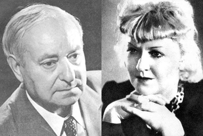 Мария Бабанова и Фёдор Кнорре