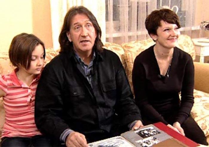 Марина Есипенко и Олег Митяев с дочерью Дарьей