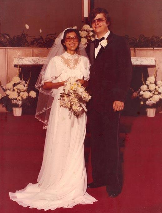 Марк Дэвид Чепмен и жена Глория
