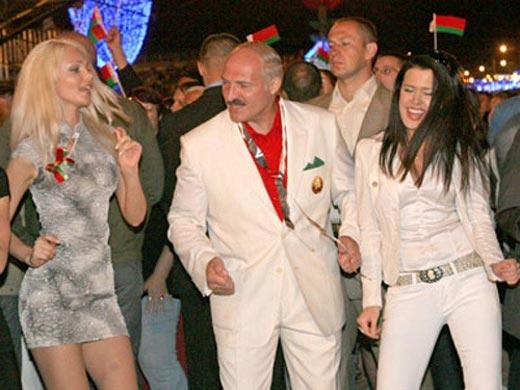 Марта Голубева и Александр Лукашенко
