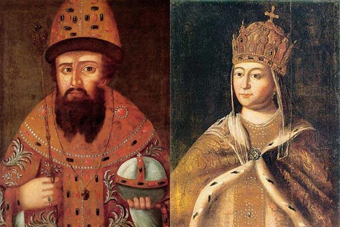 Михаил Фёдорович Романов и Евдокия Стрешнева