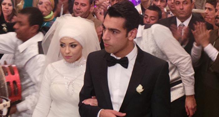 Мохаммед Салах и жена Маги