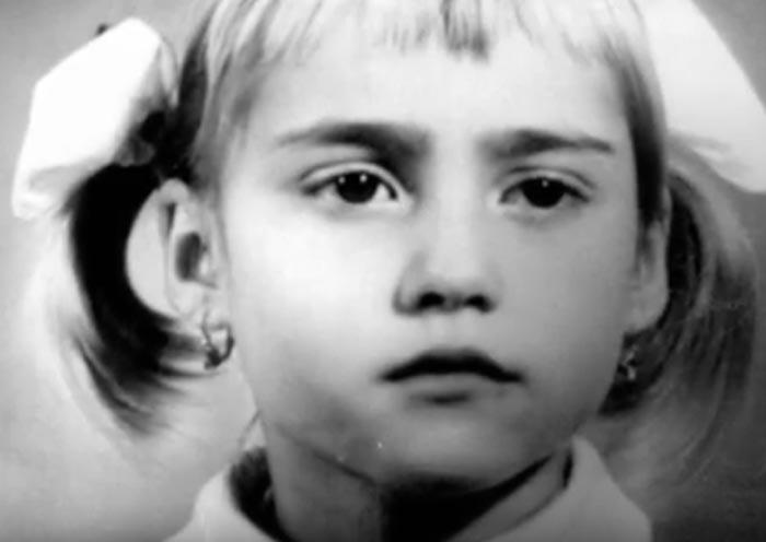 Надя Команечи в детстве