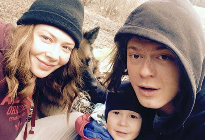 Наталья Ноздрина и Илья Быков с сыном