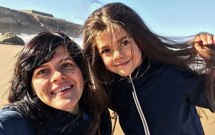 Наталья Симакова и дочь Мишель