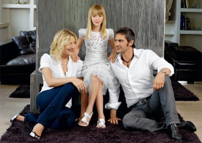 Наталья Стефаненко с мужем и дочерью Александрой