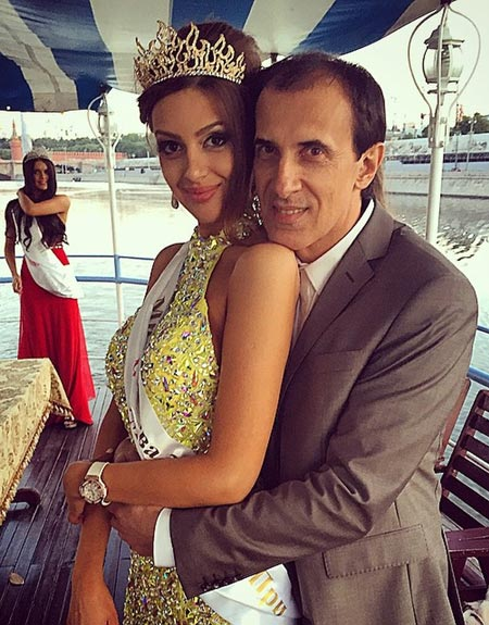 Оксана Воеводина с отцом