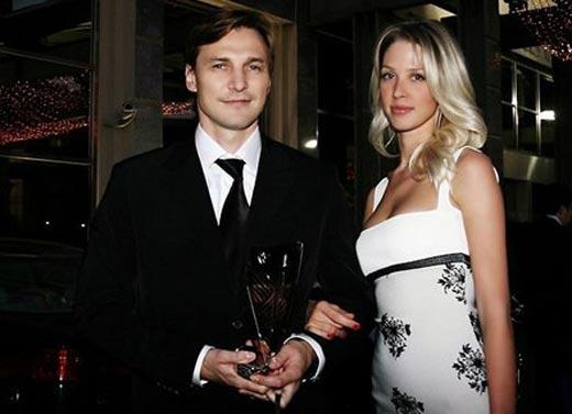 Сергей Федоров с женой