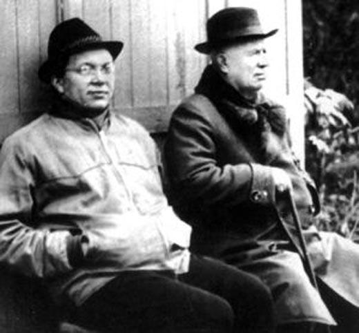 Сергей Хрущёв и Никита Хрущёв