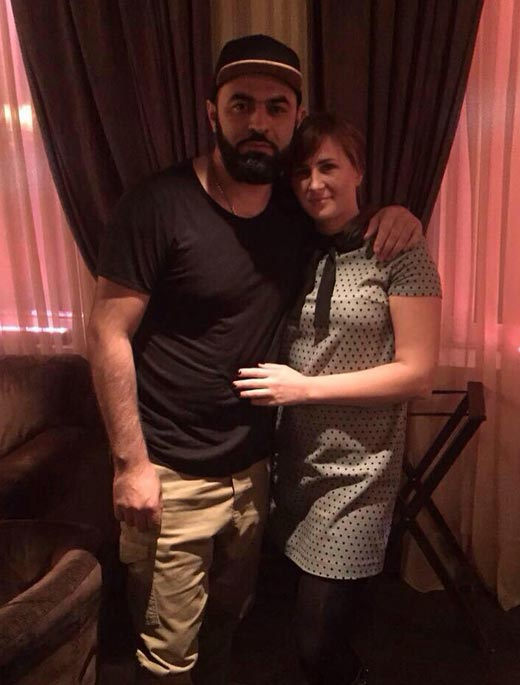 Севак Ханагян и жена Мария