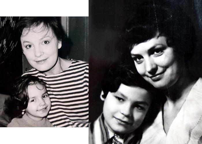 Татьяна Судец с сыном и дочерью