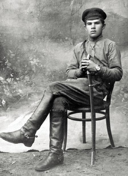 Василий Чуйков в молодости