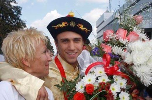 Василий Ломаченко с мамой