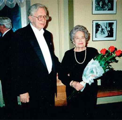 Василий Смыслов и жена Надежда Андреевна