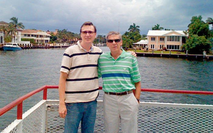Виктор Ильичёв и сын Михаил