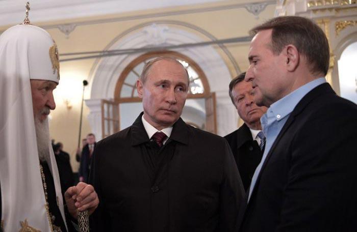 Виктор Медведчук Владимир Путин Патриарх Кирилл