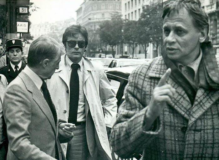 Владимир Наумов и Ален Делон на съемках фильма Тегеран-43