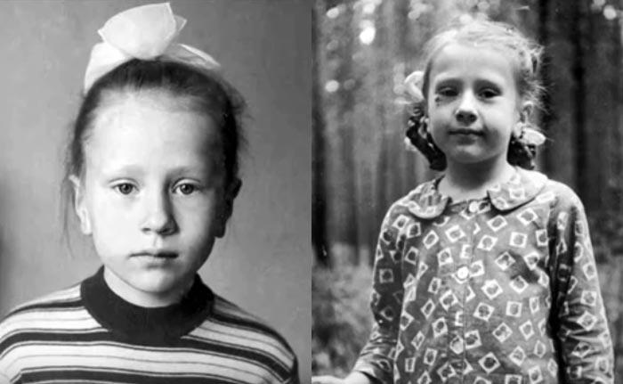 Янка Дягилева в детстве