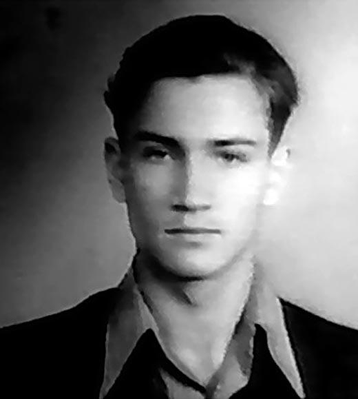 Юрий Гребенщиков в молодости