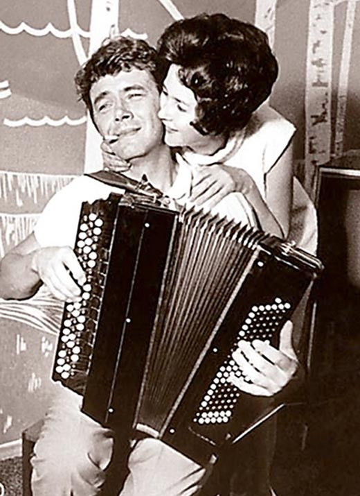Юрий Гуляев с женой