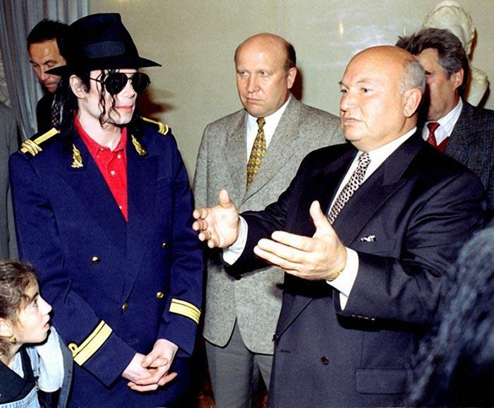 Юрий Лужков и Майкл Джексон