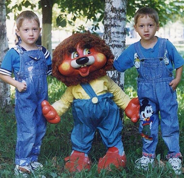 Антон и Алексей Миранчуки в детстве
