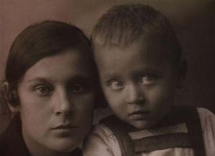Первая жена Сергея Образцова с сыном Алексеем