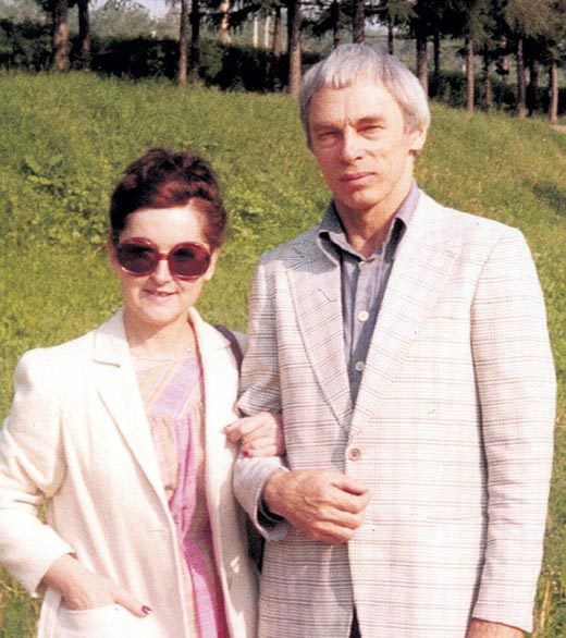 Александр Зацепин и третья жена Женевьев