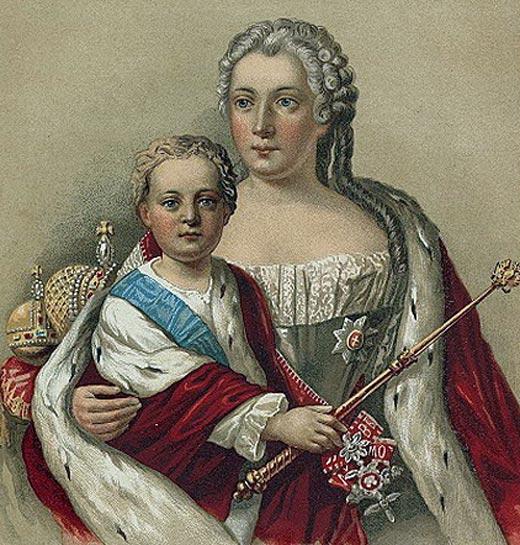 Анна Леопольдовна и сын Иван VI Антонович