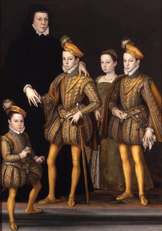 Екатерина Медичи с детьми