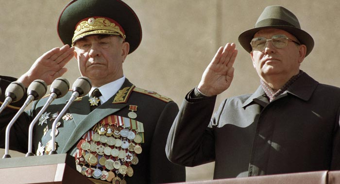 Дмитрий Язов и Михаил Горбачев