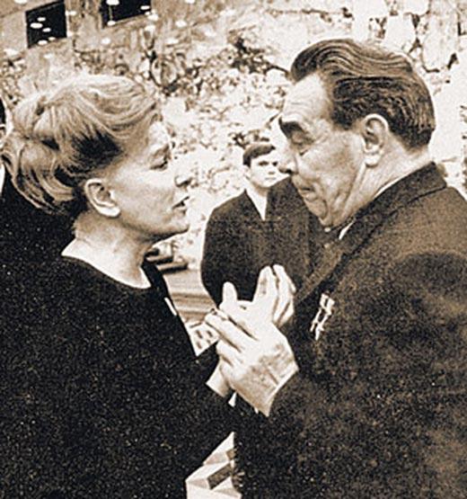 Екатерина Фурцева и Леонид Брежнев