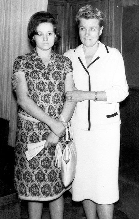 Екатерина Фурцева и дочь Светлана
