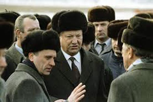 Геннадий Бурбулис и Борис Ельцин