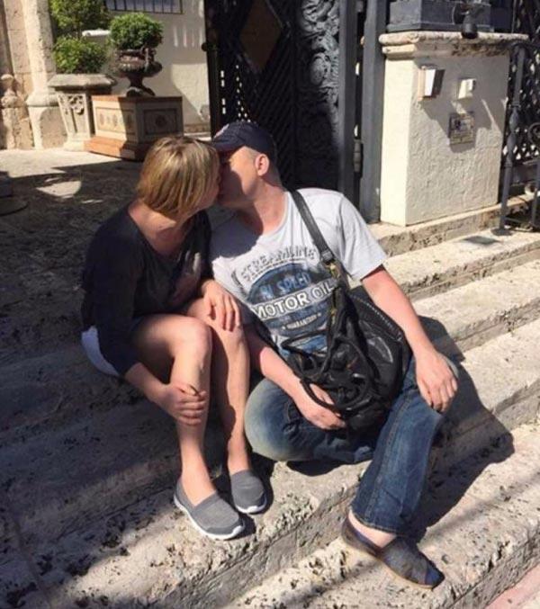 поцелуй Инна Белоконь и Андрей Данилко