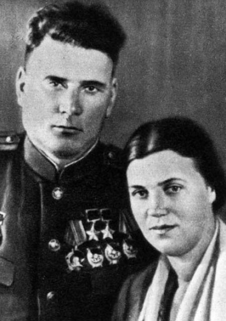 Иван Якубовский и жена Зинаида