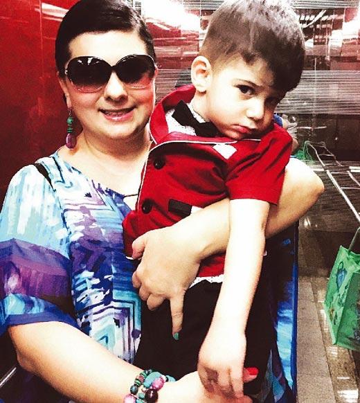Карина Абдуллина и сын Альберт