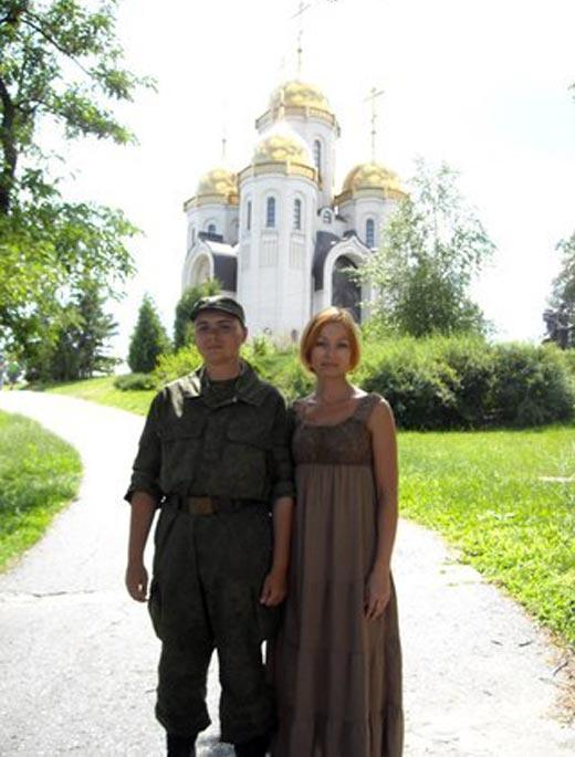 Наталья Старых и сын Степан