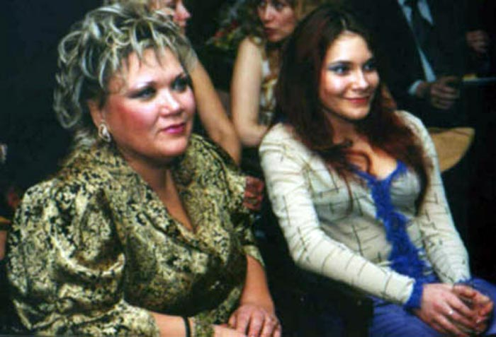 Ольга Пирагс и дочь Диана Пирагс