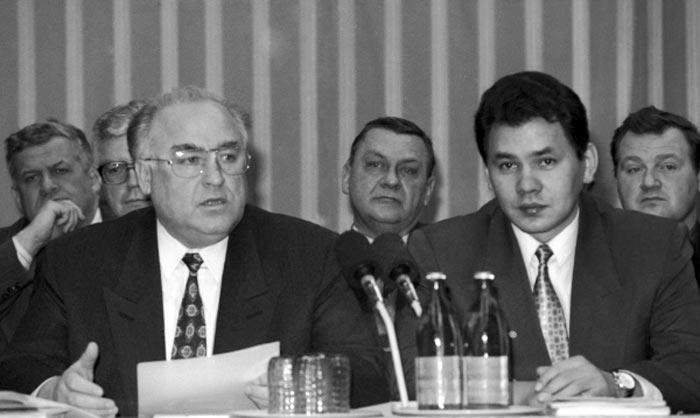 Сергей Шойгу и Виктор Черномырдин
