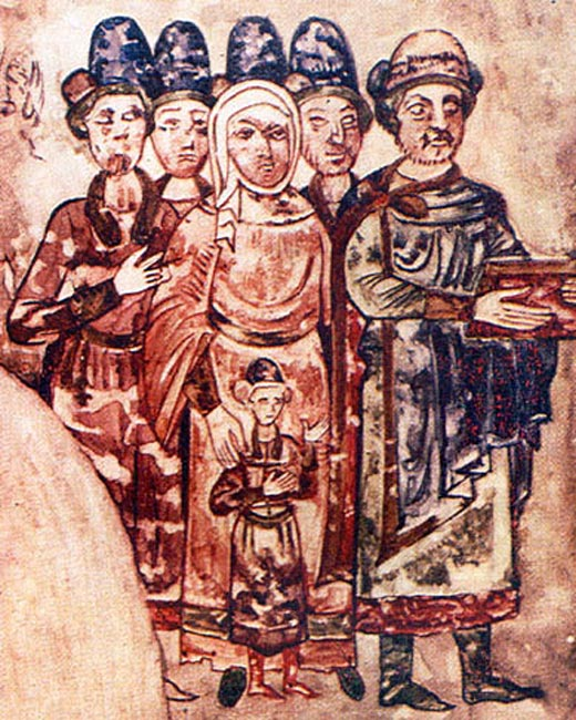 Святослав Ярославич с семьей