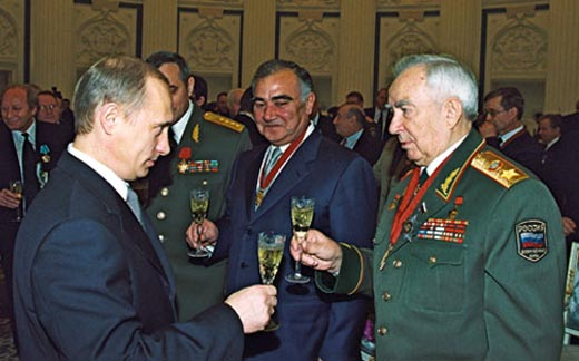 Виктор Куликов и Владимир Путин