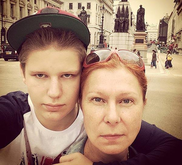 Виктория Верберг и сын Даниил